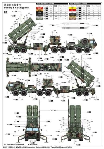 Trumpeter 01037 w skali 1:35 - model M983 HEMTT and M901 Launching Station - image e
