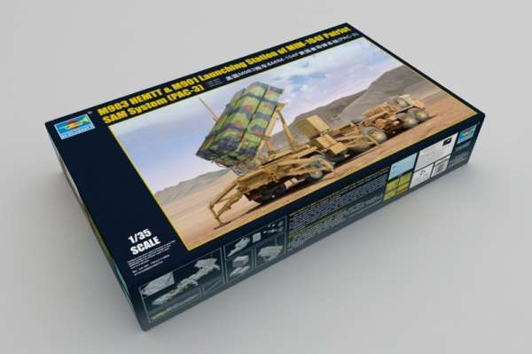 Trumpeter 01037 w skali 1:35 - model M983 HEMTT and M901 Launching Station - image a