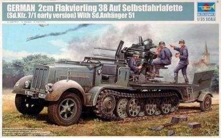 Samobieżne działo przeciwlotnicze 20mm Flakvierling 38 auf Selbstfahrlafette (Sd.Kfz.7/1 early version) with Sd.Anhanger 51 model_tru01523_image_1-image_Trumpeter_01523_3
