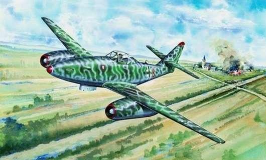Myśliwiec Messerschmitt Me262 A-2a model_do_sklejania_trumpeter_02236_image_10-image_Trumpeter_02236_3