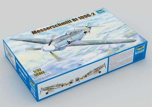 German fighter Messerschmitt Bf 109 G-2 plastikowy_model-do_sklejania_trumpeter_02294_image_2