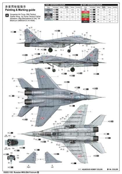 Model myśliwca MiG-29A Fulcrum w skali 1:32 do sklejania, Trumpeter_03223_image_4