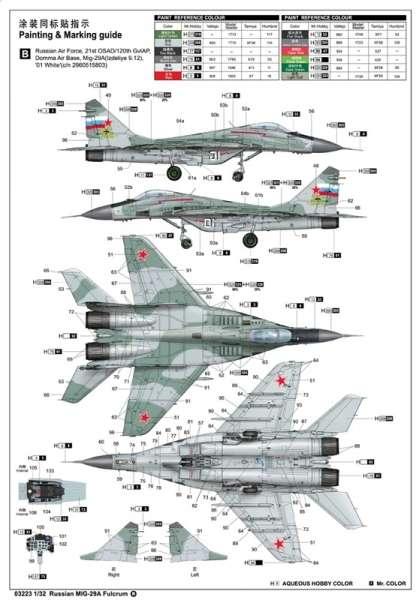 Model myśliwca MiG-29A Fulcrum w skali 1:32 do sklejania, Trumpeter_03223_image_6