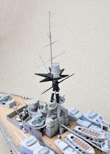 Brytyjski okręt wojenny - pancernik HMS Rodney w skali 1:200 plastikowy model do sklejania Trumpeter_03709_image_5