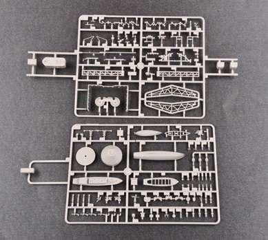Brytyjski okręt wojenny - pancernik HMS Rodney w skali 1:200 plastikowy model do sklejania Trumpeter_03709_image_12
