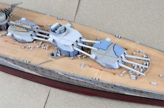 Brytyjski okręt wojenny - pancernik HMS Rodney w skali 1:200 plastikowy model do sklejania Trumpeter_03709_image_6