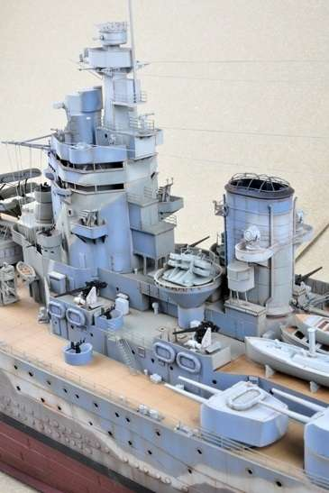 Brytyjski okręt wojenny - pancernik HMS Rodney w skali 1:200 plastikowy model do sklejania Trumpeter_03709_image_2