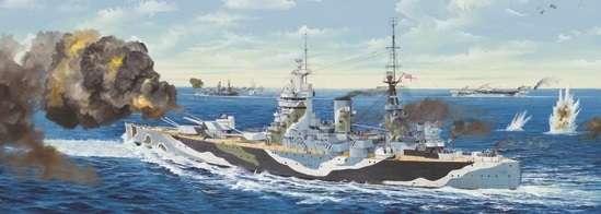 Brytyjski okręt wojenny - pancernik HMS Rodney w skali 1:200 plastikowy model do sklejania Trumpeter_03709_image_21