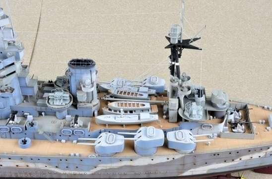 Brytyjski okręt wojenny - pancernik HMS Rodney w skali 1:200 plastikowy model do sklejania Trumpeter_03709_image_4