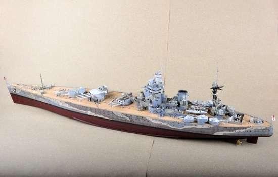 Brytyjski okręt wojenny - pancernik HMS Rodney w skali 1:200 plastikowy model do sklejania Trumpeter_03709_image_3