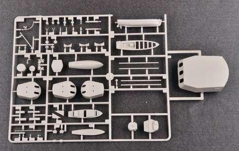 Brytyjski okręt wojenny - pancernik HMS Rodney w skali 1:200 plastikowy model do sklejania Trumpeter_03709_image_13