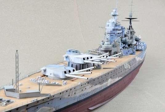 Brytyjski okręt wojenny - pancernik HMS Rodney w skali 1:200 plastikowy model do sklejania Trumpeter_03709_image_1