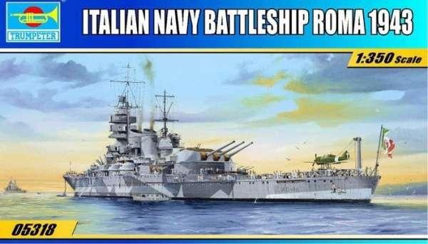 Model włoskiego pancernika RN Roma w skali 1:350 do sklejania, model Trumpeter 05318_image_15-image_Trumpeter_05318_4