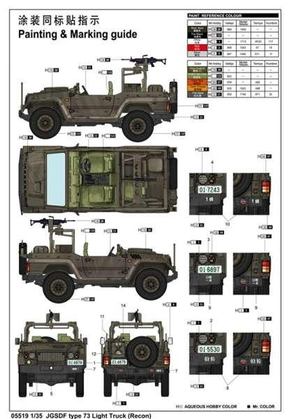 Trumpeter 05519 JGSDF type 73 Light Truck - Recon
