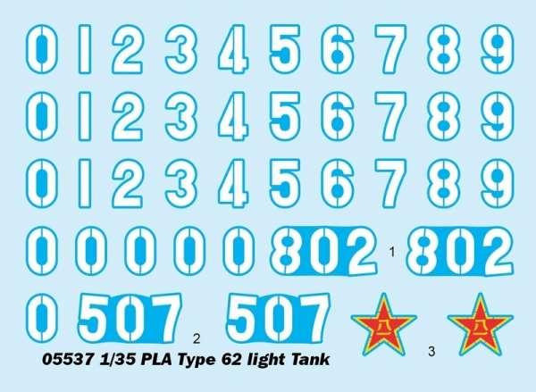 Trumpeter 05537 Chiński czołg lekki PLA Typ 62