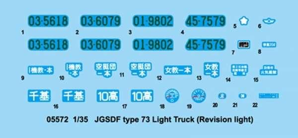 Trumpeter 05572 JGSDF Type 73 Light Truck