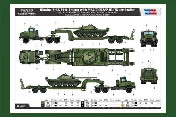 model_plastikowy_do_sklejania_hobby_boss_85513_ukraine_kraz_6446_tractor_with_maz_sklep_modelarski_modeledo_image_3
