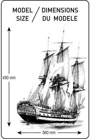 Heller 80889 w skali 1:150 - model Le Glorieux do sklejania - image m