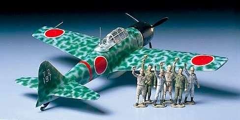 Japoński myśliwiec A6M3 typ 32 Zero Fighter (Hamp), plastikowy model do sklejania Tamiya 61025 w skali 1:48-image_Tamiya_61025_1