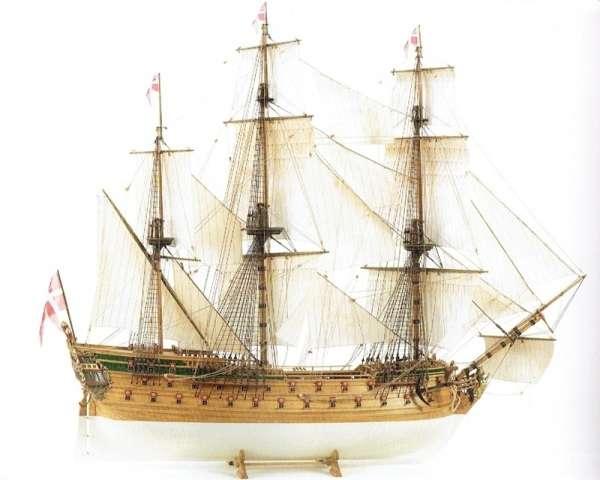 Żaglowiec Norske Love , drewniany model do sklejania Billing Boats BB437 w skali 1:75