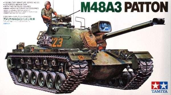 Amerykański czołg M48A3 Patton, plastikowy model do sklejania Tamiya 35120 w skali 1:35
