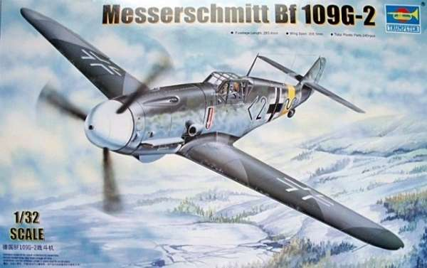 German fighter Messerschmitt Bf 109 G-2 plastikowy_model-do_sklejania_trumpeter_02294_image_1