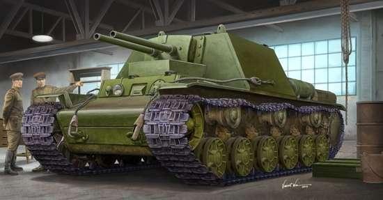Radziecki prototypowy czołg KW-7 Obiekt 227, plastikowy model do sklejania Trumpeter 09504 w skali 1:35