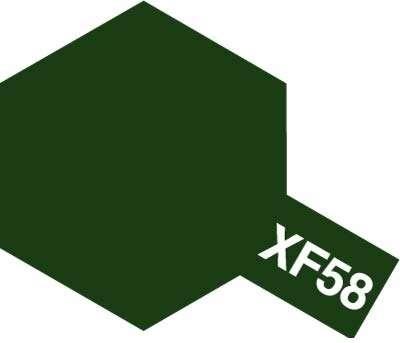 XF-58 Olive Green emalia 10ml Tamiya 80358