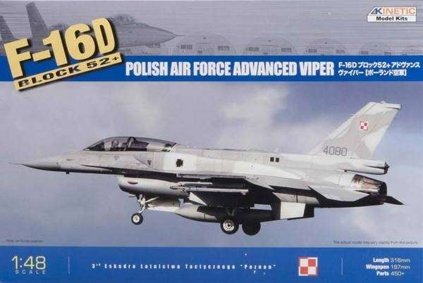 Model fighter F-16D Hawk Block 52+ (HAF / Poland AF) - 48010 model_do_sklejania_kinetic_48010_image_1-image_Kinetic_48010_1