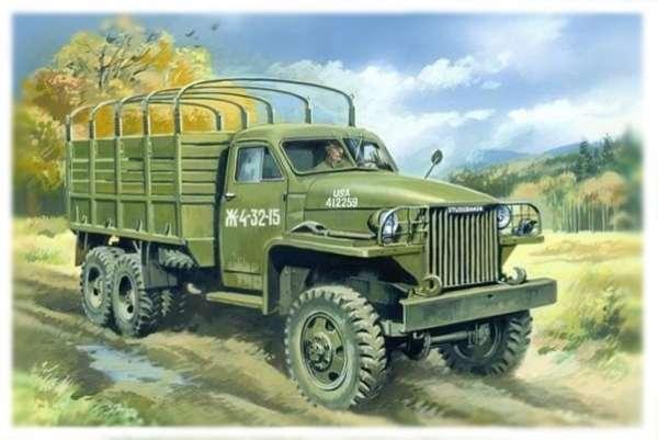 Amerykańska ciężarówka wojskowa Studebaker w skali 1:35, plastikowy model do sklejania ICM 35511