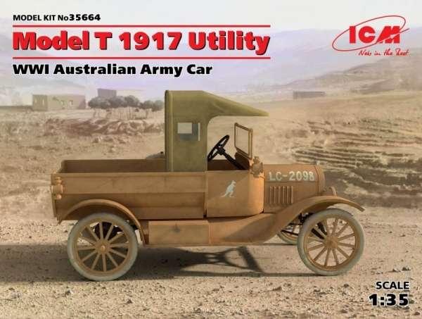 Samochód Ford Model T 1917 , plastikowy model do sklejania ICM 35664 w skali 1:35