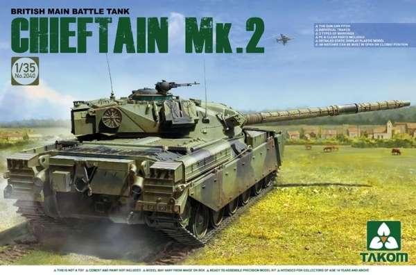 Brytyjski czołg Chieftain Mk.2, plastikowy model do sklejania Takom 2040 w skali 1:35