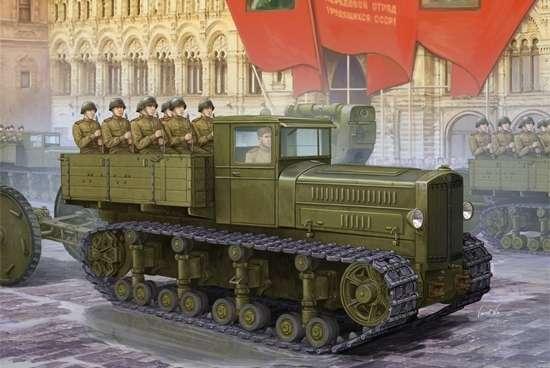 Radziecki gąsienicowy ciężki ciągnik artyleryjski Komintern, plastikowy model do sklejania Trumpeter 05540 w skali 1:35