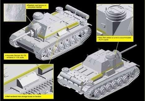 Dragon 6856 German SU-76i with Cupola
