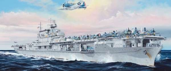 Amerykański lotniskowiec USS Enterprise CV-6, plastikowy model do sklejania Merit 65302 w skali 1:350