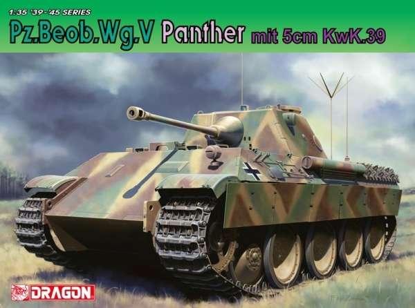 Niemiecki czołg Panzerkampfwagen V Panther z działem 5cm KwK.39, plastikowy model do sklejania Dragon 6821 w skali 1/35.