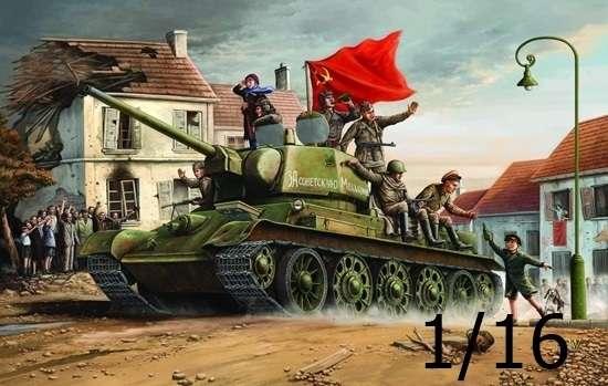 Radziecki czołg średni T-34/76 (1943), plastikowy model do sklejania Trumpeter 00903 w skali 1:16.