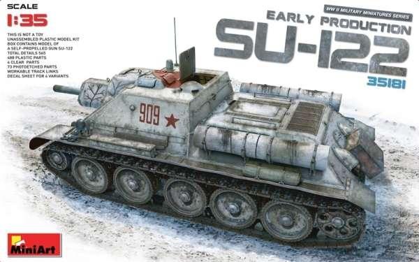 Radzieckie samobieżne działo pancerne SU-122, plastikowy model do sklejania MiniArt 35181 w skali 1:35.