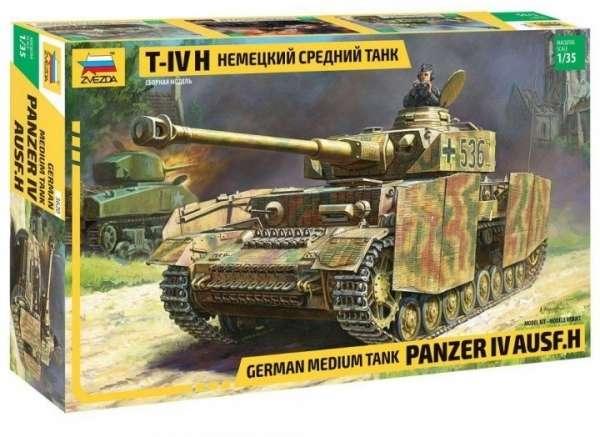Niemiecki czołg średni Panzer IV Ausf.H, plastikowy model do sklejania Zvezda nr 3620 w skali 1:35