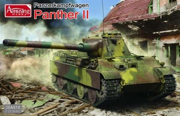 Niemiecki czołg PZ V Panther II , plastikowy model do sklejania Amusing Hobby 35A018 w skali 1:35