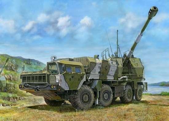 Rosyjskie samobieżne działo obrony wybrzeża A-222 Bereg , plastikowy model do sklejania Trumpeter 01036 w skali 1:35