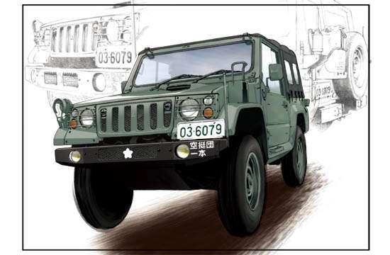 Lekki pojazd wojskowy Typ 73, plastikowy model do sklejania Trumpeter 05572 w skali 1:35