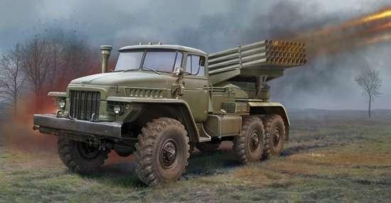 Rosyjska polowa wyrzutnia rakietowa BM-21 Grad , plastikowy model do sklejania Trumpeter 01028 w skali 1:35