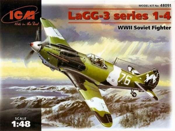 Radziecki myśliwiec LaGG-3, plastikowy model do sklejania ICM 48091 w skali 1:48