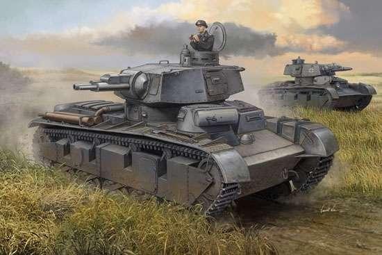 Niemiecki czołg ciężki NbFz type I, plastikowy model do sklejania Trumpeter 05527 w skali 1:35
