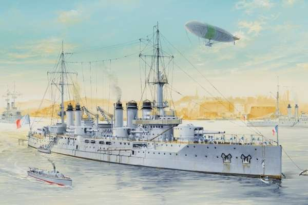 Okręt Francuskiej Marynarki Wojennej - przeddrednot Voltaire, plastikowy model do sklejania Hobby Boss 86504 w skali 1:350
