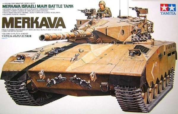 Izraelski czołg Merkava, plastikowy model do sklejania Tamiya 35127 w skali 1:35