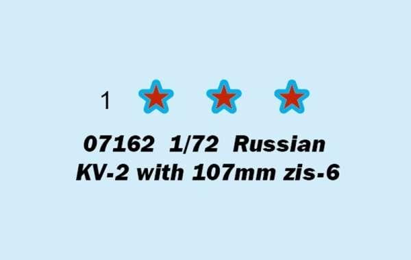 Trumpeter 07162 w skali 1:72 - model Russian KV-2 with 107mm zis-6 do sklejania - image b