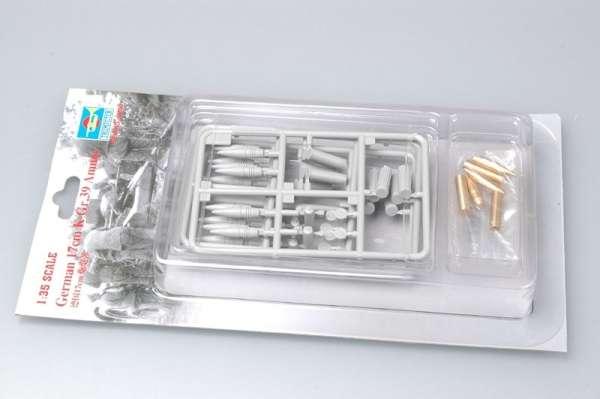 Zestaw plastikowych i metalowych pocisków w skali 1/35 - 17cm K Gr.39 Ammo - Trumpeter 06609