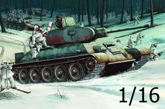 Radziecki czołg T-34/76 (1942), plastikowy model do sklejania Trumpeter 00905 w skali 1:16.